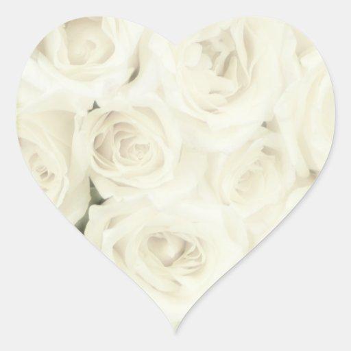 Roses d'autocollants