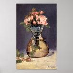 Roses de mousse dans une copie de beaux-arts de va posters