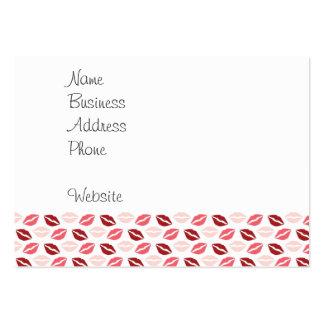 Roses rouges m'embrassent des cadeaux de carte de visite grand format