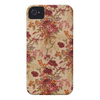 Roses rouges vintages romantiques coque iPhone 4 Case-Mate
