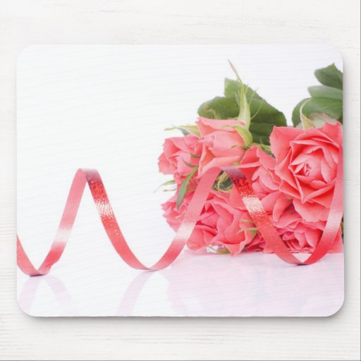 roses tapis de souris