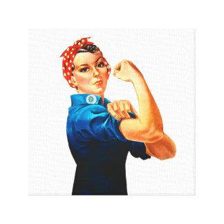 Rosie das Plakat des Nieteneinschläger-WWII Leinwanddruck