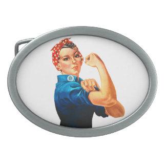 Rosie das Plakat des Nieteneinschläger-WWII Ovale Gürtelschnallen