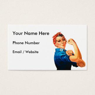 Rosie das Plakat des Nieteneinschläger-WWII Visitenkarte