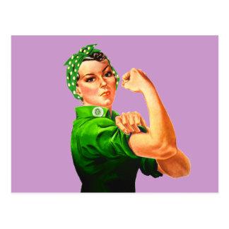 Rosie der Nieteneinschläger - grünes Militär Postkarte