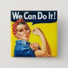 Rosie der Nieteneinschläger-Knopf Quadratischer Button 5,1 Cm