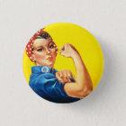 Rosie der Nieteneinschläger-Knopf Runder Button 3,2 Cm