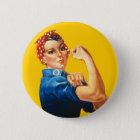 Rosie der Nieteneinschläger-Knopf Runder Button 5,7 Cm