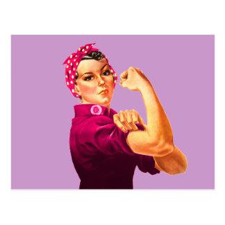 Rosie der Nieteneinschläger - Krebs-Rosa Postkarte