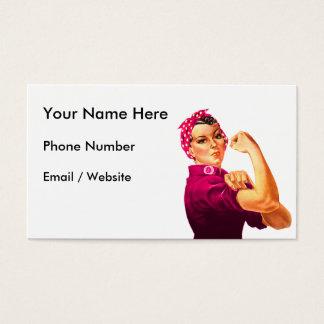 Rosie der Nieteneinschläger - Krebs-Rosa Visitenkarte