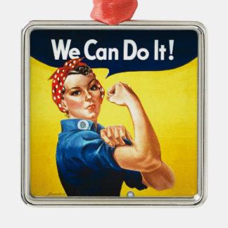 """Rosie der Nieteneinschläger - """"wir können ihn tun! Silbernes Ornament"""