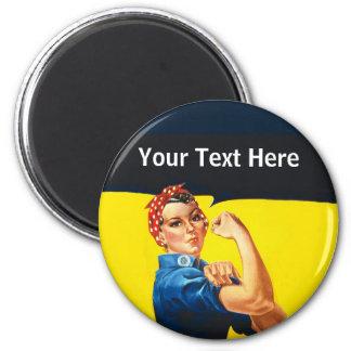 Rosie die Kriegs-Bemühungs-berufstätige Frau des Runder Magnet 5,7 Cm