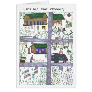 Rossettes Vision einer vorbildlichen Gemeinschaft Karte