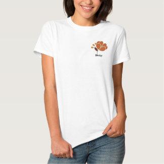 Rost-Blume personalisiert Besticktes Poloshirt