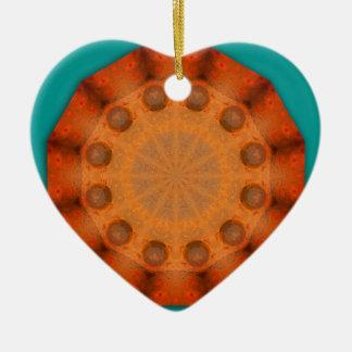 Rost-Mandala - ROSTart Keramik Herz-Ornament