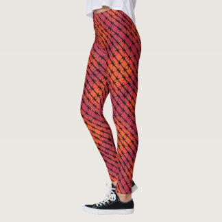 Rost-roter Stacheldraht Barb, der Orange einzäunt Leggings
