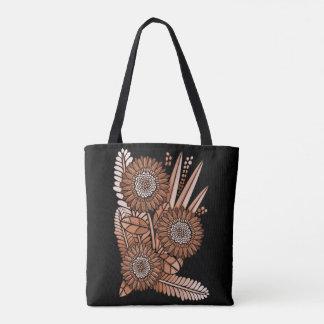 Rostgerbera-Gänseblümchen-Blumen-Blumenstrauß Tasche