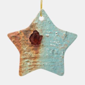 Rostiges Metall Keramik Ornament