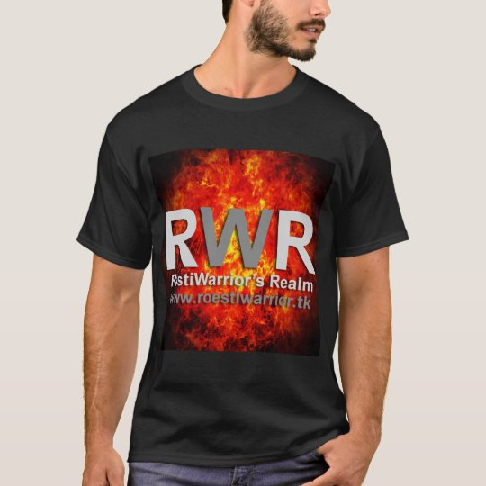RöstiWarrior's Realm Men's Basic Dark T-Shirt