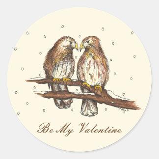 Rot-Angebundene Falke-Liebe-Vögel sind meine mein Runder Aufkleber