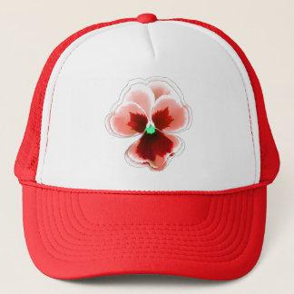 Rot auf der roten Pansy-Blume Editable Truckerkappe