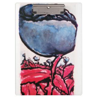 Rot-aufgehaltene blaue Rosenschreibensauflage