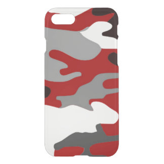 Rot beschattet Camouflage iPhone 7 Hülle