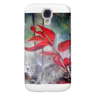 Rot-Blätter im Morgen-Nebel Galaxy S4 Hülle
