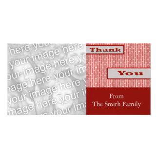 Rot danken Ihnen Personalisierte Photo Karte