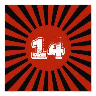 Rot, der Geburtstags-Party des weißen schwarzen Karte