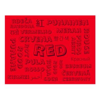 Rot - Farbsprachen auf Postkarten
