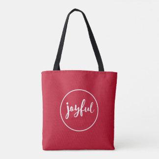 ROT | froher moderner Feiertag Tasche