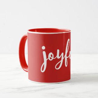 ROT | froher moderner Feiertag Tasse