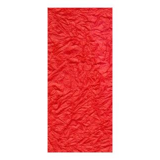 Rot gekrümmte Papierbeschaffenheit Werbekarte