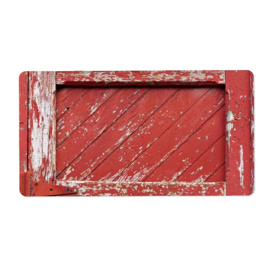 Rot gemalte hölzerne Scheunen-Tür