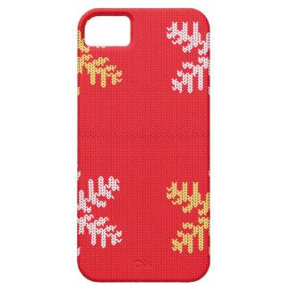 Rot gestrickte Schneeflocke Etui Fürs iPhone 5
