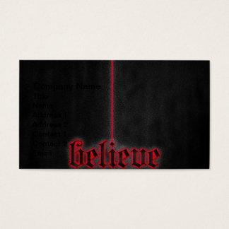 Rot glauben visitenkarte