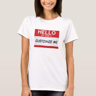Rot hallo mein Name ist… kundengerecht T-Shirt