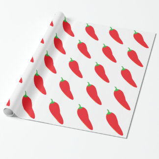 Rot - heißer Chili-Pfeffer Geschenkpapier