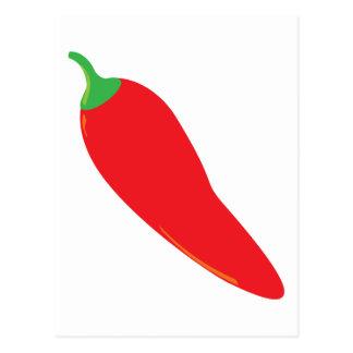 Rot - heißer Chili-Pfeffer Postkarte