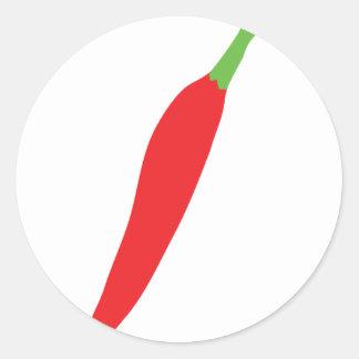 rot - heißer Chilipfeffer Runder Aufkleber