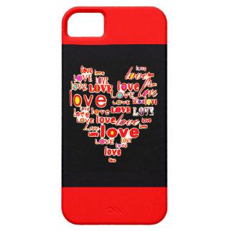 Rot Liebe-Herzvalentines TagesSave the Date iPhone 5 Schutzhülle