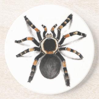 Rot mit einem Band versehene Tarantula-Spinne Getränkeuntersetzer