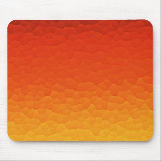 Rot orange gebrannt zum GoldOmbre Knistern-Muster Mauspad