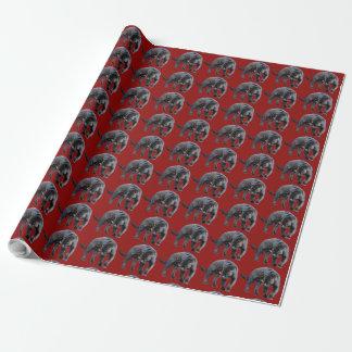 Rot-Packpapier Jaguars Diablo Geschenkpapier