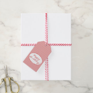 Rot-Streifen-Geschenk-Umbauten alles- Gute zum Geschenkanhänger