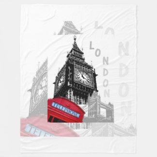 Rot-Telefon Londons Big Ben Fleecedecke