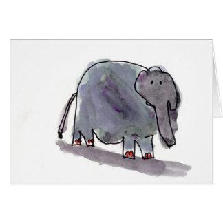 Rot Toed Elefant • Konrad Mazur, Alter 6 Mitteilungskarte