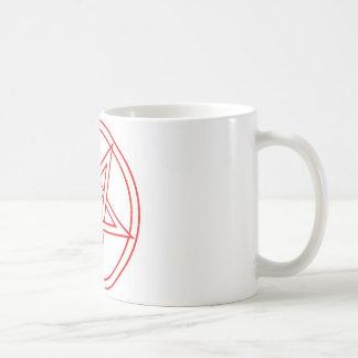 Rot umgekehrtes Pentagramm Kaffeetasse