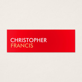 Rot und Biege zwei Tonminikarten Mini Visitenkarte